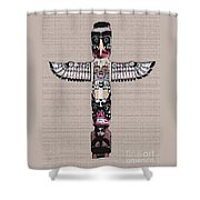 Vancouver Totem - 4 Shower Curtain by Linda  Parker