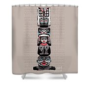 Vancouver Totem - 5 Shower Curtain by Linda  Parker