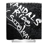 Vandals Ride Sideways Shower Curtain