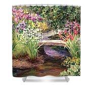 Vandusen Garden Iris Bridge Shower Curtain