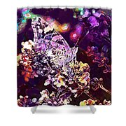 Vanessa Cardui Painted Lady  Shower Curtain