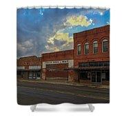 #vanishingtexas Street Scene - Rosebud Texas Shower Curtain