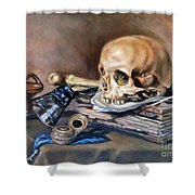 Vanitas After Pieter Claesz Shower Curtain