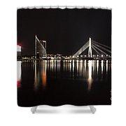 Vansu Bridge Riga Shower Curtain