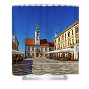 Varazdin Main Square, Croatia Shower Curtain