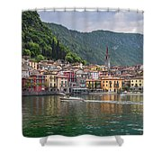 Varenna Italy Old Town Waterfront Shower Curtain