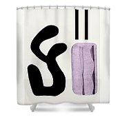 Variation Matisse Pink Shower Curtain