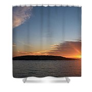 Variations Of Sunsets At Gulf Of Bothnia 3 Shower Curtain