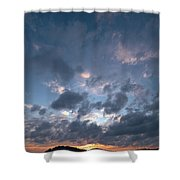 Variations Of Sunsets At Gulf Of Bothnia 5 Shower Curtain