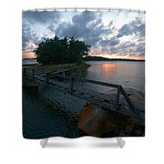 Variations Of Sunsets At Gulf Of Bothnia 6 Shower Curtain