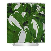 Variegated Hostas Shower Curtain