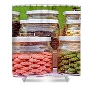 Various Cookies In Glass Jars Shower Curtain