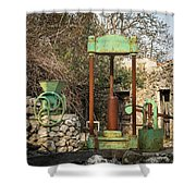 Various Old Rusty Vintage Agricultural Devices In Croatia Shower Curtain