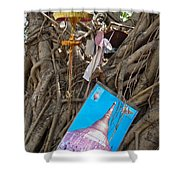 Various Religious Items Stuffed I Shower Curtain