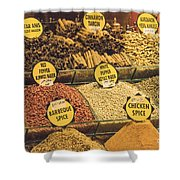 Various Spices Shower Curtain