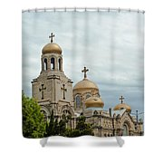 Varna Cathedral,bulgaria Shower Curtain