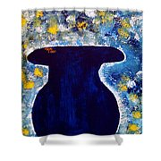 Vas And Flowers Shower Curtain