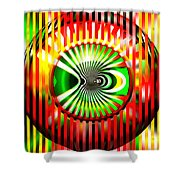 Vasarely Universe Shower Curtain