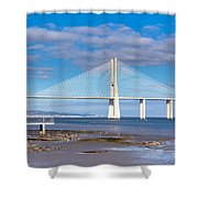Vasco Da Gama Bridge Shower Curtain