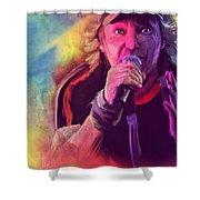 Vasco Rossi Shower Curtain