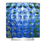 Vase Bubbles Shower Curtain