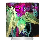 Vase Dancing In The Night Shower Curtain