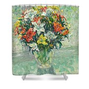 Vase Lilies Painting Shower Curtain