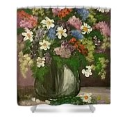 Vase Of Flowers #1 Shower Curtain
