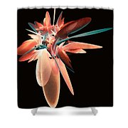 Vase Of Flowers Abstract Shower Curtain