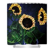 Vase Of Sunflowers Shower Curtain