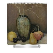 Vase With Fruit Shower Curtain