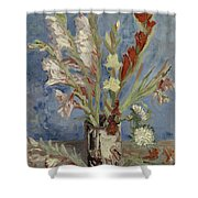 Vase With Gladioli And Chinese Asters Paris, August - September 1886 Vincent Van Gogh 1853  1890 Shower Curtain