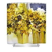 Vases Full Of Blooms    Shower Curtain