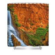 Vaseys Paradise Twin Falls Shower Curtain