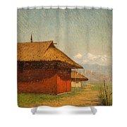 Vasily Vasilievich Vereshchagin  Russian 1842  1904 Nepalese Village Shower Curtain
