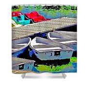 Boats Summer Vasona Park Shower Curtain