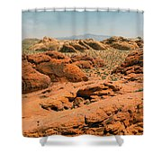 Vast Desert Valley Of Fire Shower Curtain