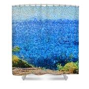 Vast Expanse Of The Ocean Shower Curtain