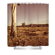 Vast Pastoral Australian Countryside  Shower Curtain
