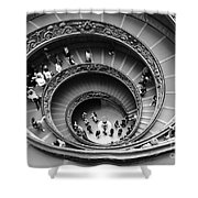 Vatican Bw Shower Curtain