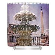 Vatican City Fountain Shower Curtain