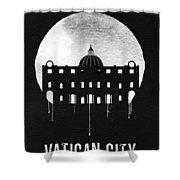 Vatican City Landmark Black Shower Curtain