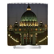Vatican, Rome, Italy.  Night View Shower Curtain