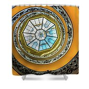 Vatican Staircase Looking Up Shower Curtain