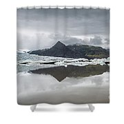 Vatnajokull Glacier Shower Curtain