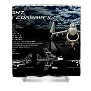 Vaught A-7a Corsair II Shower Curtain