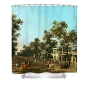Vauxhall Gardens The Grand Walk Shower Curtain