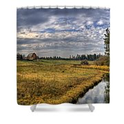 Vay Road Ditch 3 Shower Curtain