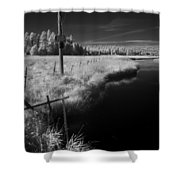 Vay Road Ditch 6 Shower Curtain