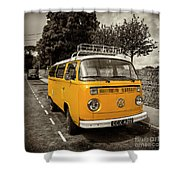 Vdub In Orange  Shower Curtain